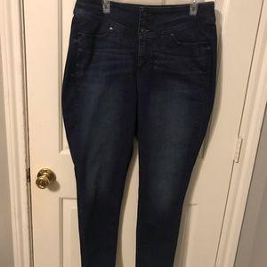 Lane Bryant high waste dark wash jeans